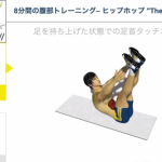 8分間連続腹筋トレーニング レベル3