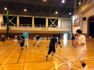 成年男子練習試合@高山中学校