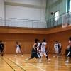 桜満開!高校生と練習試合
