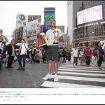 イグダラ来日!渋谷スクランブル交差点に登場!