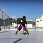 ドリブル練習動画「2ボールドリブル 1ドリ フロントチェンジ&レッグスルー」再チャレンジ!