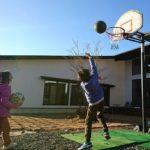 自宅にバスケットゴール設置!